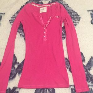 Pink Hollister top! Size small.
